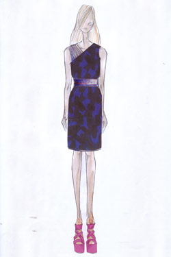 Matthew Williamson Macy's capsule collection sketch