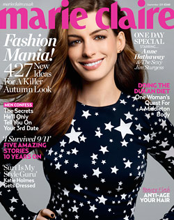 anne hathaway marie claire u.k. cover