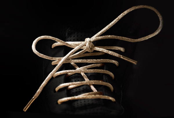 gold shoe laces