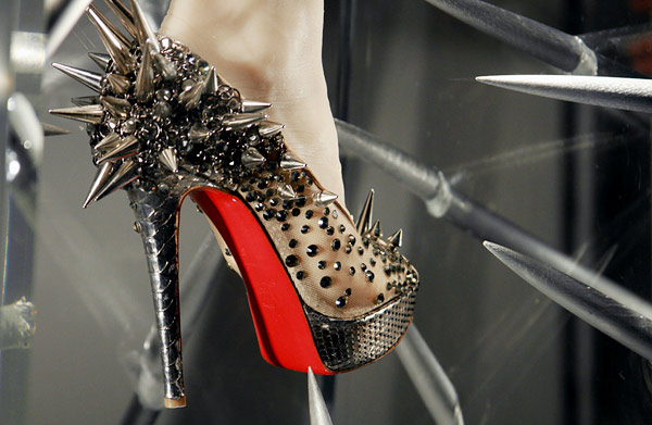 christian louboutin windows at barneys new york