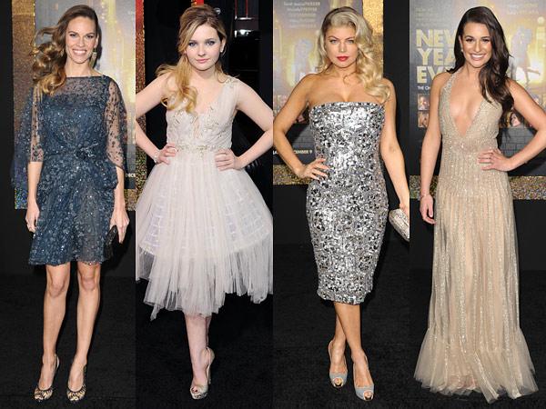 new year's eve premiere Hilary Swank, Abigail Breslin, Fergie, Lea Michele