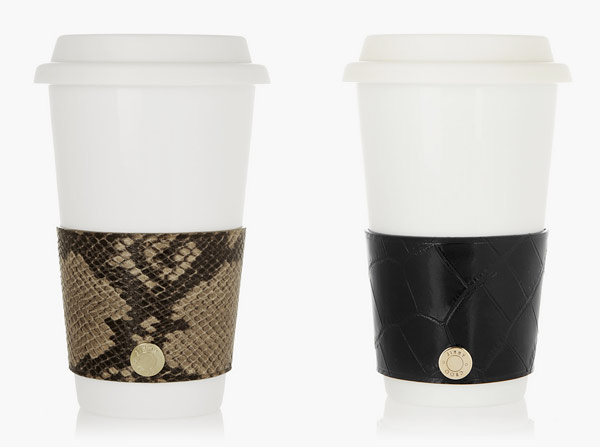 Croc skin beverage sleeves from Jimmy Choo
