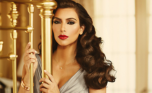 Kim Kardashian Elizabeth Taylor-Inspired True Reflection Fragrance Ad