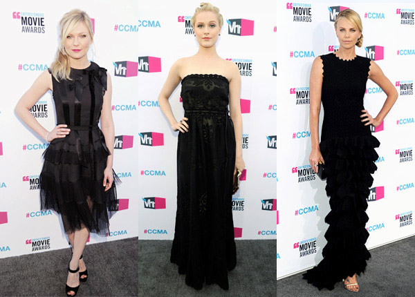 critic's choice awards black dress trend