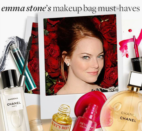 emma stone shares her makeup must-haves