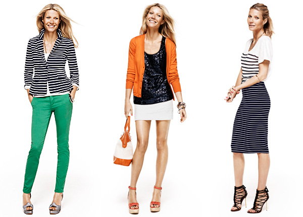 Gwyneth Paltrow models looks from Lindex's Spring 2012 collection