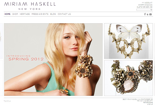 Miriam Haskell Re-Launches Website