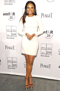 Jennifer Hudson white Michael Kors dress